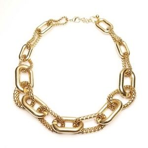 Jewelry - Big Chunky Gold Tone Chain Link Fashion Necklace
